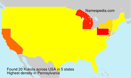 Surname Kukola in USA