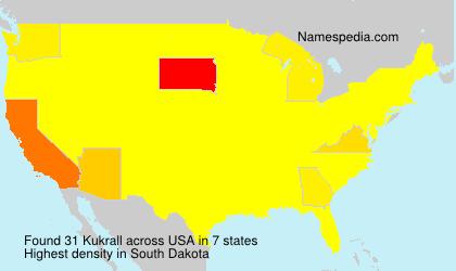 Familiennamen Kukrall - USA