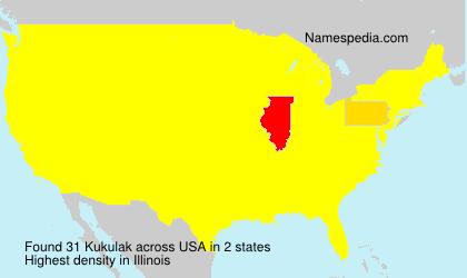 Familiennamen Kukulak - USA