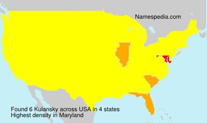 Surname Kulansky in USA