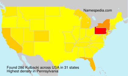 Surname Kulbacki in USA