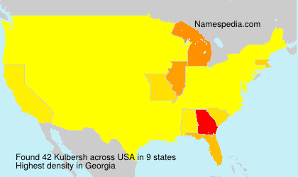 Familiennamen Kulbersh - USA