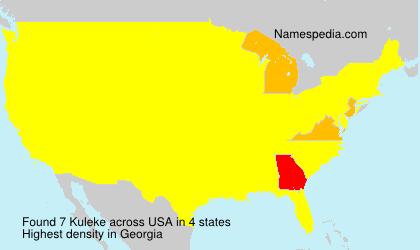 Surname Kuleke in USA