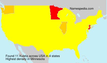 Surname Kuleta in USA