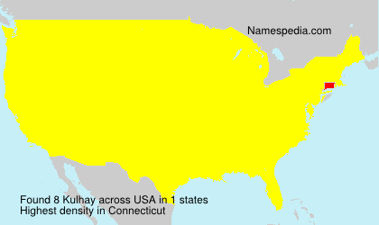 Surname Kulhay in USA