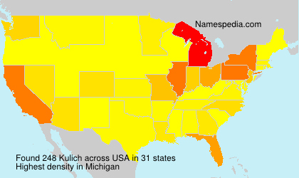 Surname Kulich in USA