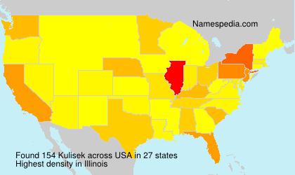 Surname Kulisek in USA