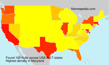 Surname Kulle in USA