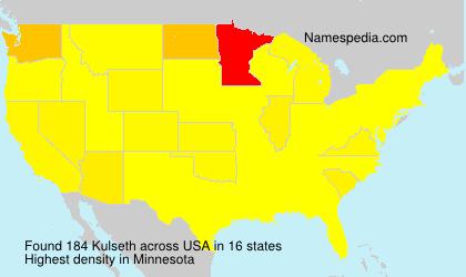 Surname Kulseth in USA