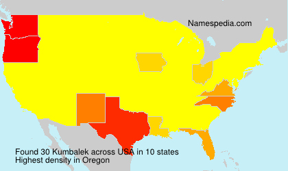 Surname Kumbalek in USA