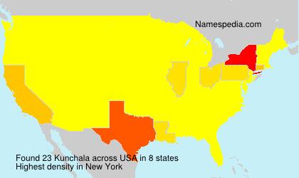 Surname Kunchala in USA