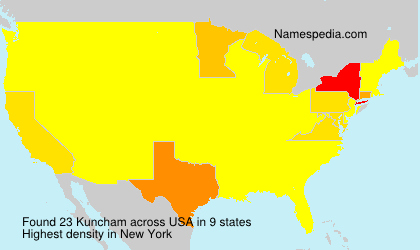 Surname Kuncham in USA