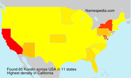 Surname Kundin in USA