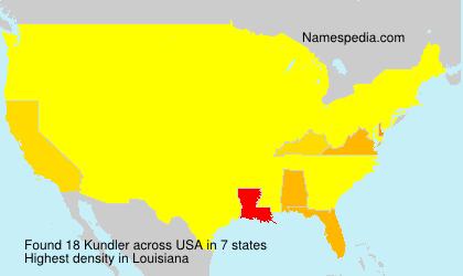 Surname Kundler in USA