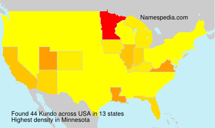 Surname Kundo in USA
