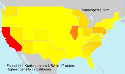 Surname Kunich in USA