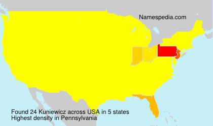 Surname Kuniewicz in USA