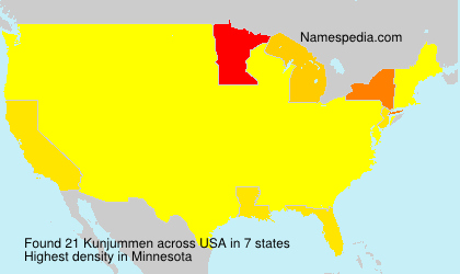 Surname Kunjummen in USA