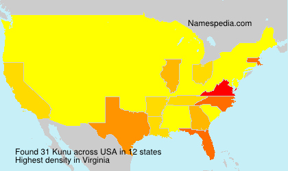 Surname Kunu in USA