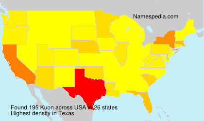 Surname Kuon in USA