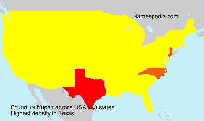 Familiennamen Kupatt - USA
