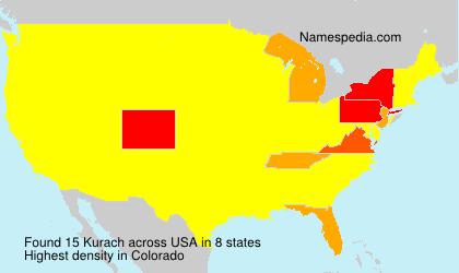 Surname Kurach in USA