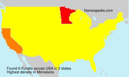 Surname Kuralla in USA