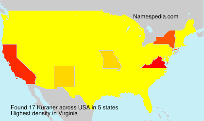 Surname Kuraner in USA