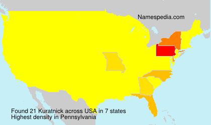 Familiennamen Kuratnick - USA