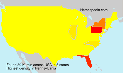 Surname Kurcin in USA