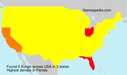 Surname Kurgis in USA