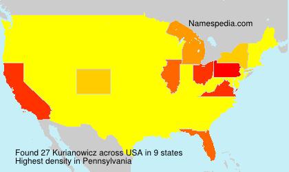Familiennamen Kurianowicz - USA