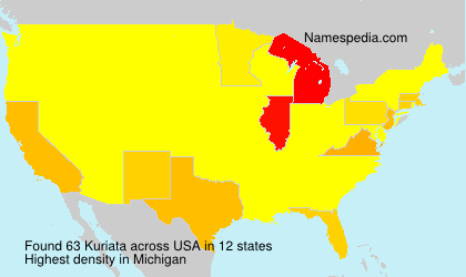 Surname Kuriata in USA
