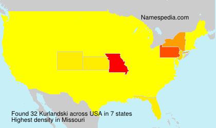 Familiennamen Kurlandski - USA
