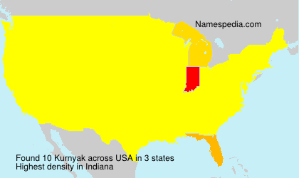 Familiennamen Kurnyak - USA