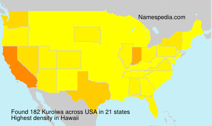Surname Kuroiwa in USA