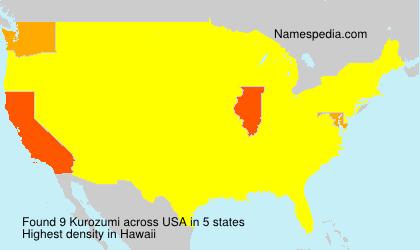 Familiennamen Kurozumi - USA