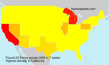 Familiennamen Kursa - USA