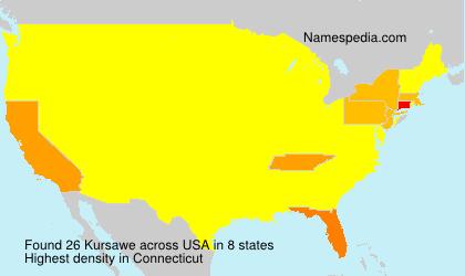 Familiennamen Kursawe - USA