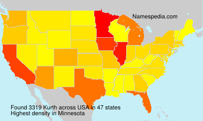 Surname Kurth in USA