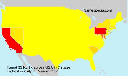 Surname Kurtik in USA