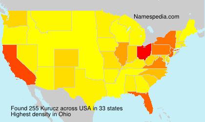 Surname Kurucz in USA