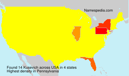 Surname Kusevich in USA