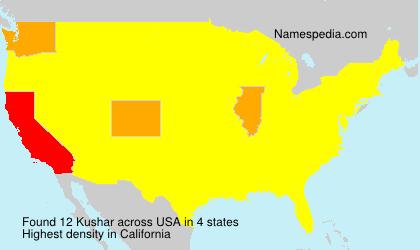 Familiennamen Kushar - USA