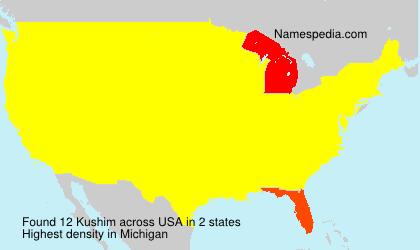 Surname Kushim in USA