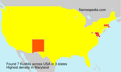 Surname Kushlis in USA