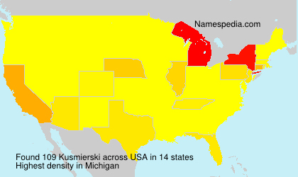 Surname Kusmierski in USA