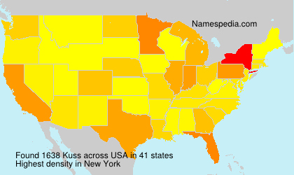 Surname Kuss in USA