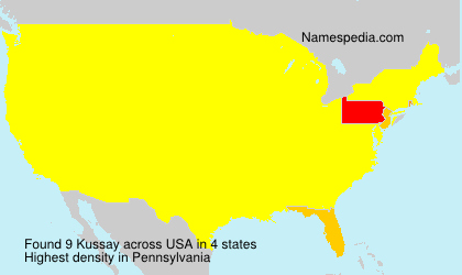 Surname Kussay in USA