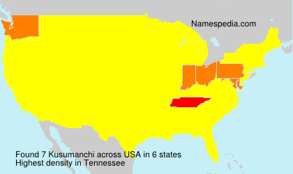Surname Kusumanchi in USA